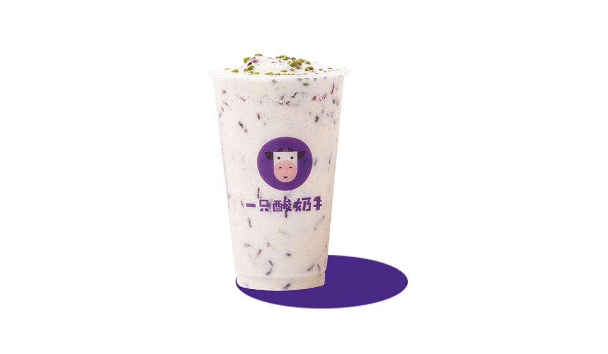 绿豆酸奶紫米露
